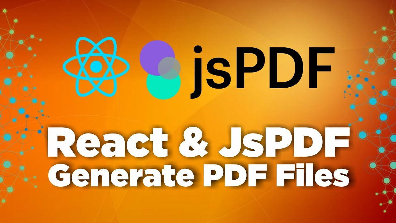 Generate PDF File with React & jsPDF
