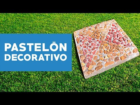 C mo hacer un pastel n decorativo youtube for Adoquines para jardin