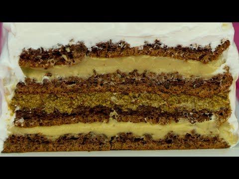 Чарующий аромат кофе! Ореховый торт с кремом на основе кофе и капучино - это чудо! | Appetitno.TV