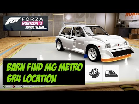 Forza Horizon 2 Storm Island Barn Find Location MG Metro 6R4 Test Drive