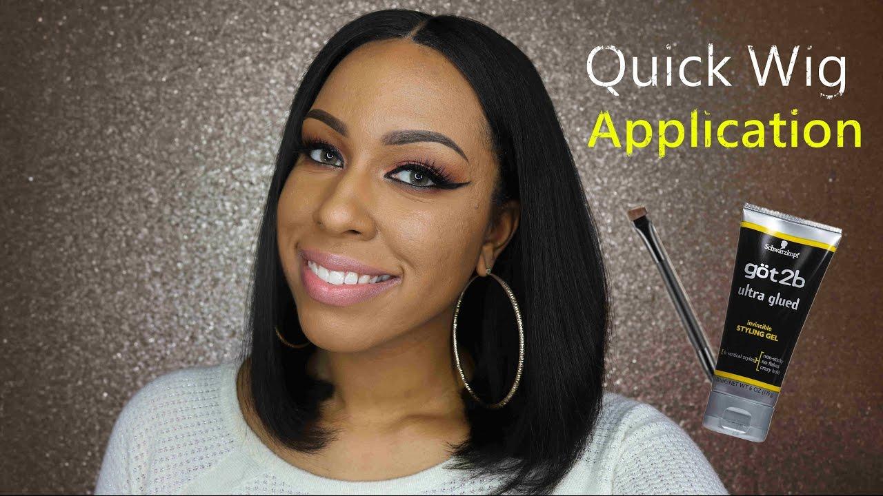 654d70569 Quick & Simple Wig Application -Mignon Bob tutorial | Myfirstwig.com ...
