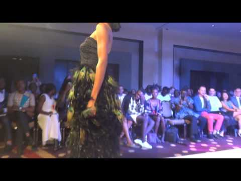 Afre Anko Peacock dress at Ghana Fashion & Design Week