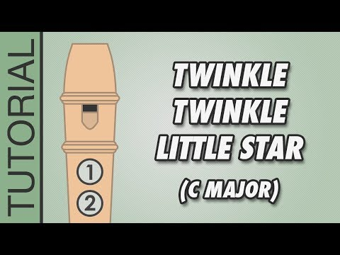How to play Twinkle Twinkle Little Star (C Major) on the Recorder - Very Easy Tutorial