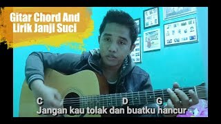 Janji suci - yovie & nuno || gitar chord and lirik cover