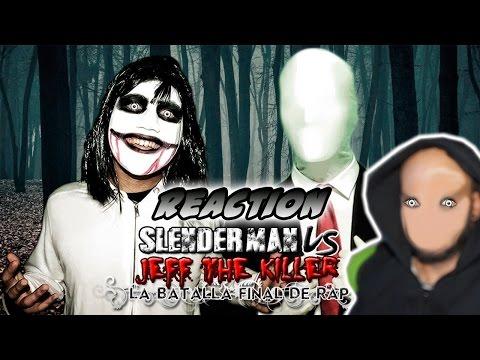 Slenderman VS Jeff the Killer. La Batalla Final de Rap | Keyblade | Video reaccion