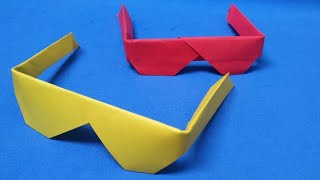 Simple Origami Sunglasses| How to make Traditional Origami Sunglasses|Paper Folding Crafts|Origami
