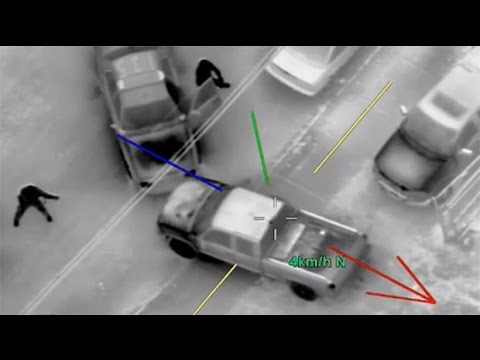 Shocking aerial video of Calgary car thieves in action