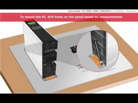 Danfoss Vlt 5000 Wiring Diagram 12 Volt Flasher Inverter Lesson 07 600 800 Ip21 Installation And Connection