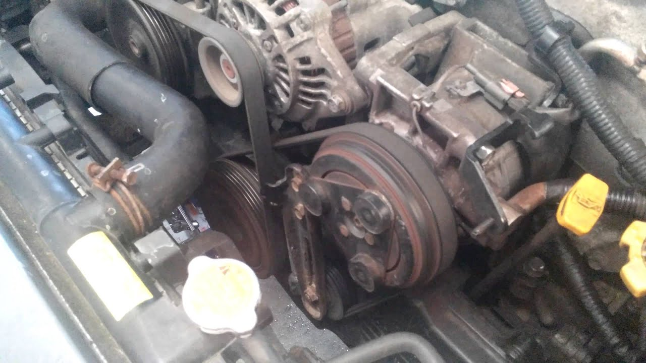 What Is Going On With My 2005 Subaru Ac Pulley Youtube