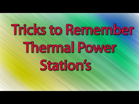 Tricks to Remember Thermal Power Plant