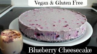 Vegan And Gluten Free Blueberry Cheesecake