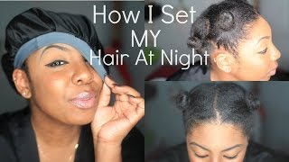 How To Keep Natural Hair Stretched (Night Time Hair Routine) | NaturallyNellzy