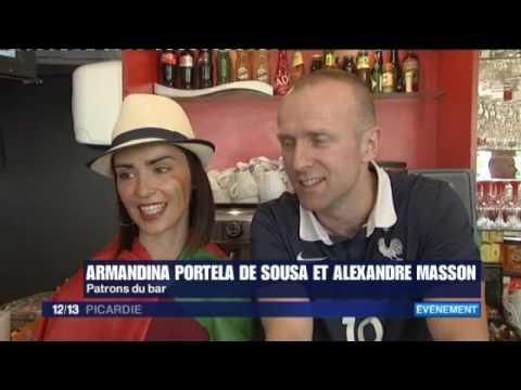 16-07-10 JT Picardie midi   AVANT la finale de l'EURO : le bar franco-portugais Corbie