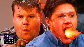 Niall Horan & James Corden Take On HOT Wings