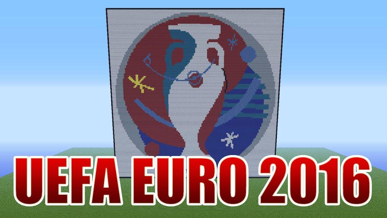 uefa euro 2016 france logo pixel art minecraft youtube. Black Bedroom Furniture Sets. Home Design Ideas