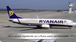 Volo Ryanair Valencia - Roma. Atterraggio divertente!