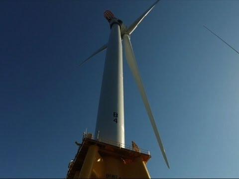 1st US Offshore Wind Farm Opens Off Rhode Island