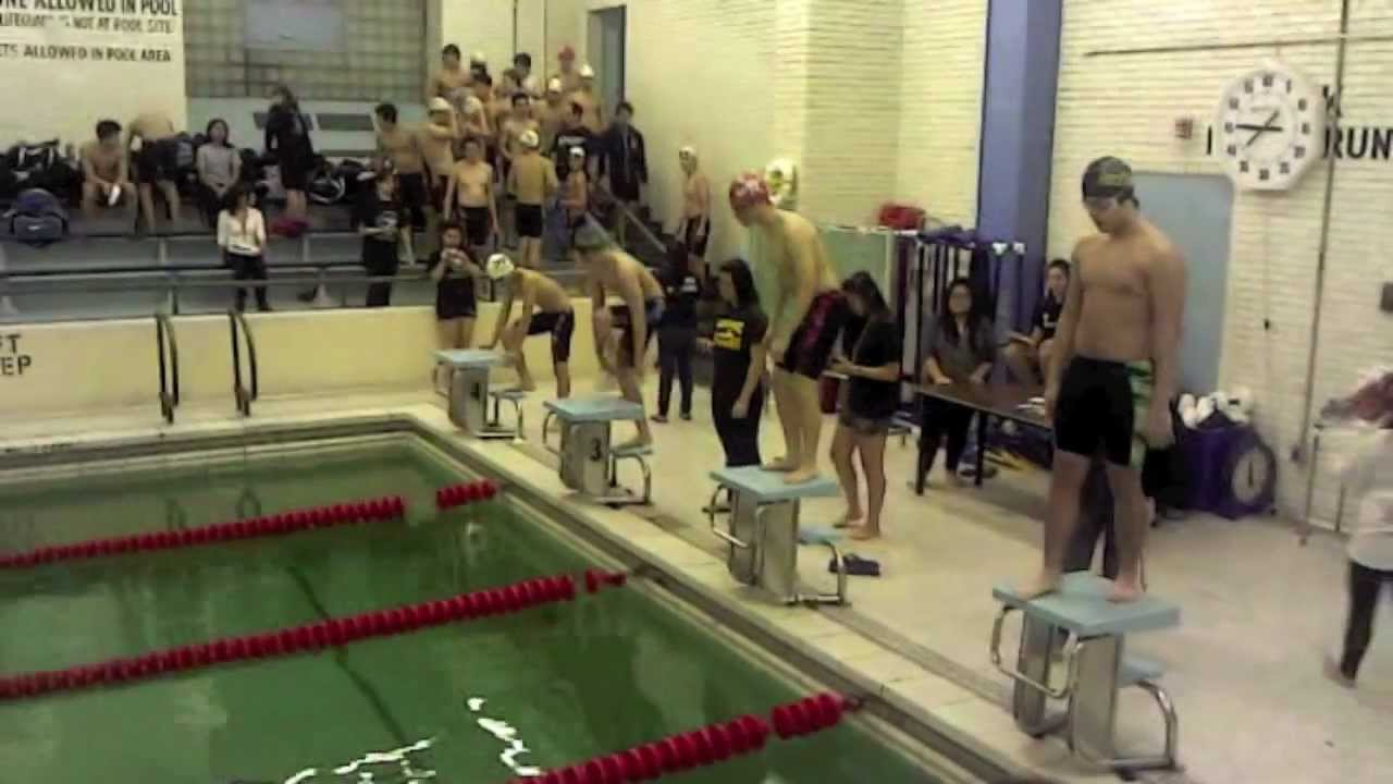 Bronx science swim team science vs stuyvesant youtube for Stuyvesant high school swimming pool