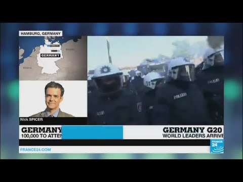 """G20 protests erupt in Hamburg: """"Police targeted by stones, responded with water cannon"""""""