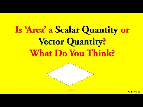 Is Area a Vector or Scalar Quantity?