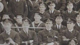 WW1 Royal Navy HMS CUMBERLAND Monmouth Class Cruiser, Crew Photograph, Philadelphia
