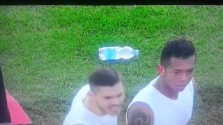 Mauro Icardi throws his shirt to Inter fans; They throw it back & exchange insults