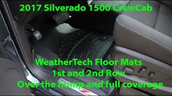 2017 Silverado Z71 CrewCab 4wd: WeatherTech 1st and 2nd row mats