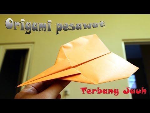 Cara membuat origami pesawat jet fighter terbang jauh