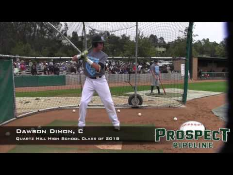 Dawson Dimon Prospect Video, C, Quartz Hill High School Class of 2018