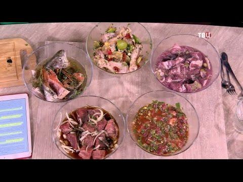 5 видов Шашлыка. Необычный маринад для мяса и рыбы.