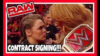 😲 Reaction   Ronda Rousey & Nia Jax MITB Contract Signing   WWE Raw May 21, 2018