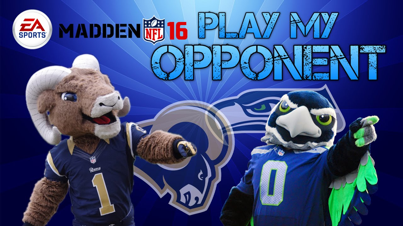 Madden 16 Play My Opponent Rams Vs Seahawks 2 Cameo By Rams Mascot Rampage Youtube