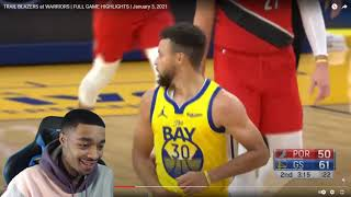FlightReacts TRAIL BLAZERS at WARRIORS | FULL GAME HIGHLIGHTS | January 3, 2021!