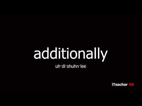 How to pronounce additionally