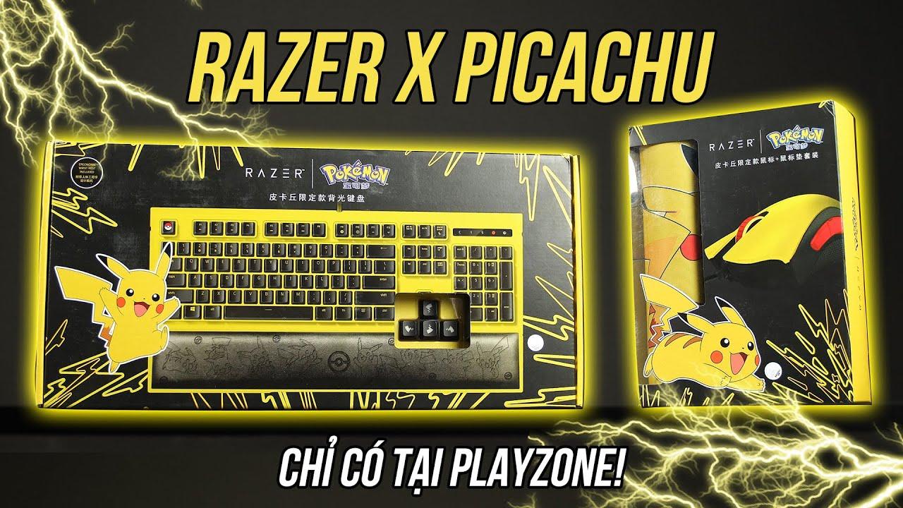 Bạn có muốn bắt POKEMON cùng RAZER?! Trên tay bộ sản phẩm bàn phím, chuột và bàn di Razer X Pokemon