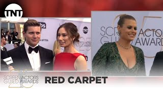 Allen Leech and Jessica Blair Herman: Red Carpet Interview | 25th Annual SAG Awards | TNT