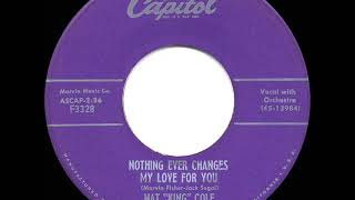 1956 HITS ARCHIVE: Nothing Ever Changes My Love For You - Nat King Cole