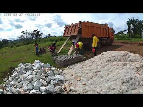O início das obras na Aldeia Viçosa/ The beginning of the work in the Village Viçosa