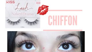 NEW! Kiss Lash Couture! Naked Drama Collection | Reviewing Chiffon