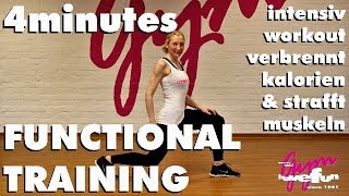 15 Min. Functional Training: 4minutes Workout intensiv