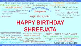 Shreejata   Languages Idiomas - Happy Birthday