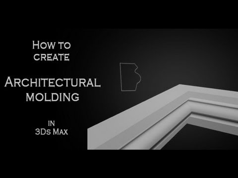 Tutorial How To Create Architectural Molding With Splines