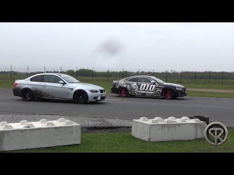DRAG RACE: BMW M3 E92 VS Audi S5 VS Mercedes C63 AMG