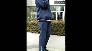 루즈핏 반집업 기모 트레이닝복 세트-네이비