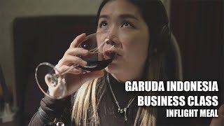 MUKBANG di BUSINESS CLASS GARUDA INDONESIA??    not ad