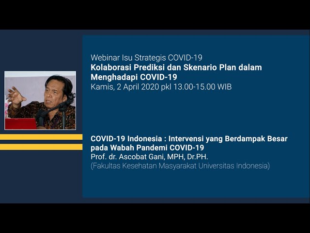 Webinar Isu Strategis COVID 19 Indonesia Intervensi yang Berdampak Besar pada Wabah Pandemi COVID 19