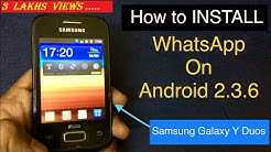 How to install Whatsapp on android 2.3.6 in 2019| Gingerbread | Galaxy Y duos|