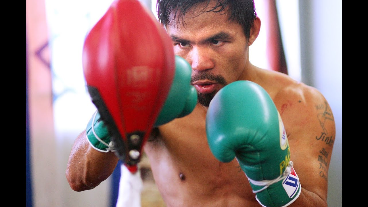 Train Like a Champ: Manny Pacquiao Works the Double Ended Bag