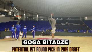 19-Year-Old Georgian Center Prospect Goga Bitadze Pregame Shooting Workout