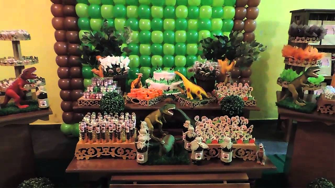 Decoraç u00e3o Dinossauro YouTube # Decoraçao De Dinossauro Para Festa Infantil